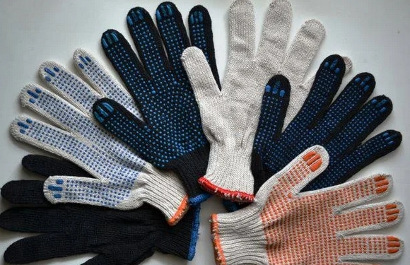 bunch of work gloves