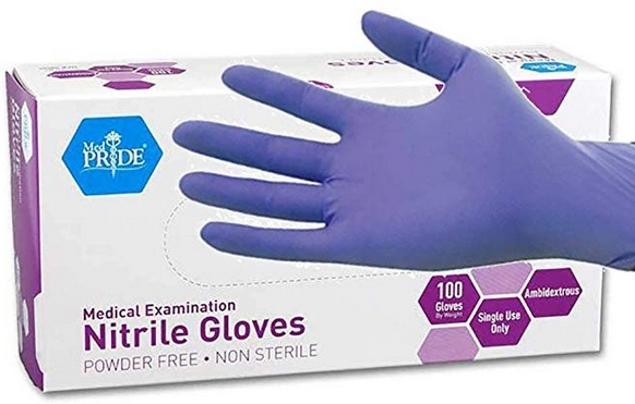 MedPride Powder-Free Nitrile Exam Gloves