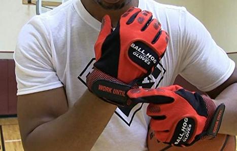 ball hog gloves on hands