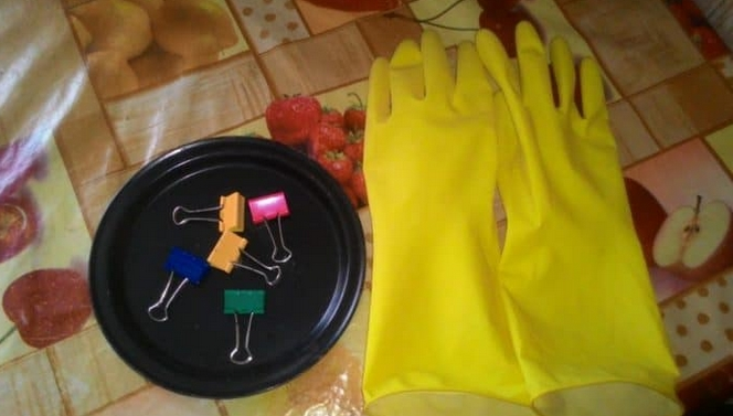 dishwashing gloves clips