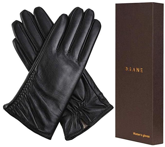 Dsane Womens Winter Leather Touchscreen