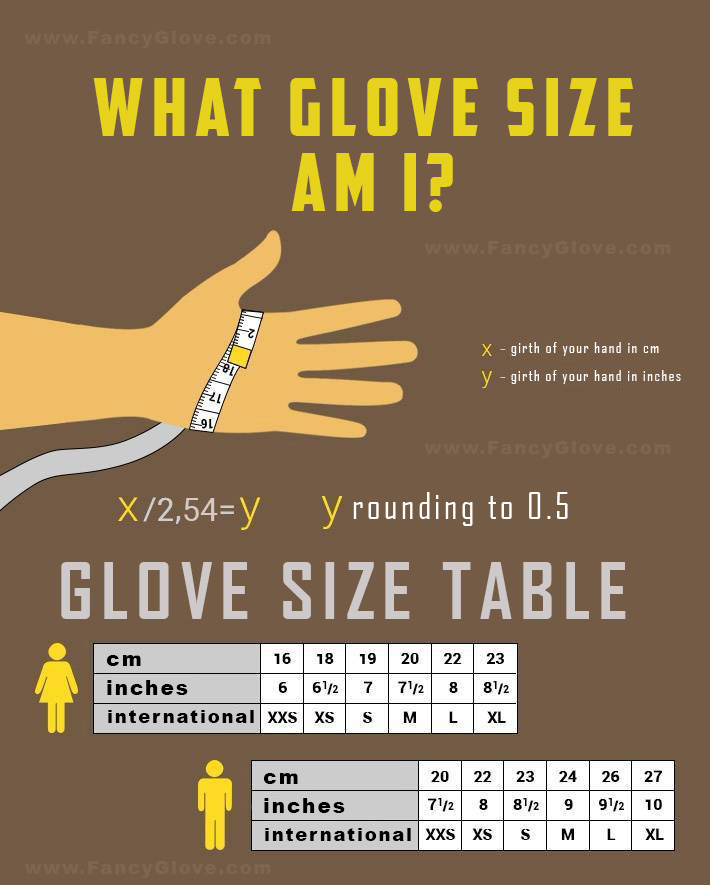 finding gove size guide