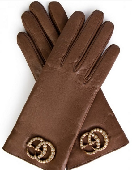 gucci women leather gloves