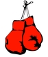 red boxing gloves cartoon