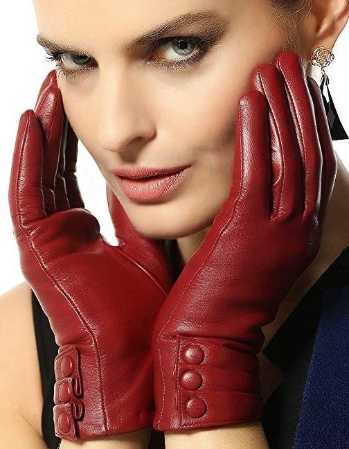 Warmen Women's Touchscreen Warm Nappa Leather Gloves