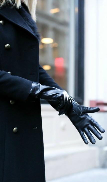 Elegant women with gloves